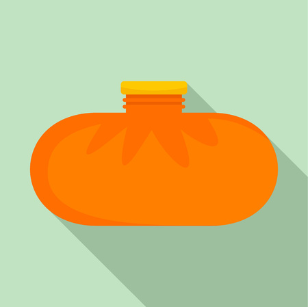 Rubber warmer icon. Flat illustration of rubber warmer vector icon for web design