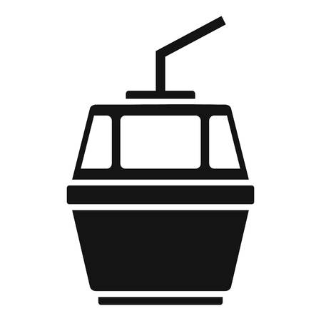 Cable car icon. Simple illustration of cable car vector icon for web design isolated on white background