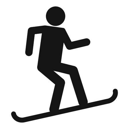 Man snowboard icon, simple style 일러스트