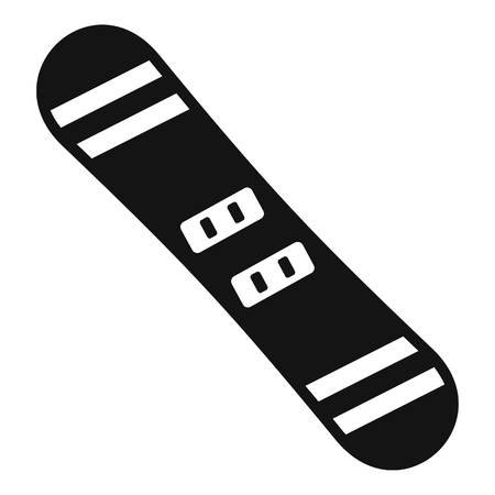 Snowboard icon. Simple illustration of snowboard vector icon for web design isolated on white background