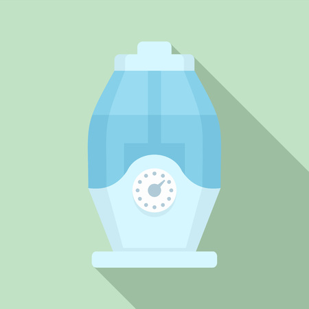 Room humidifier icon. Flat illustration of room humidifier vector icon for web design