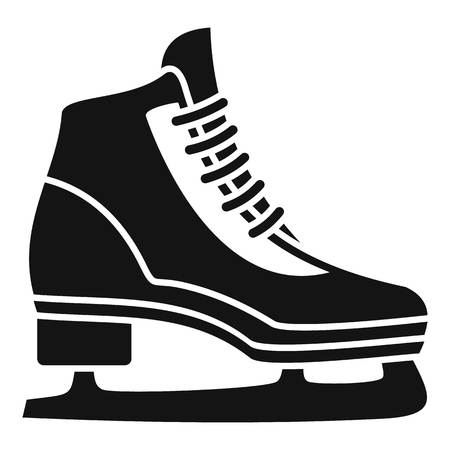 Classic ice skate icon, simple style