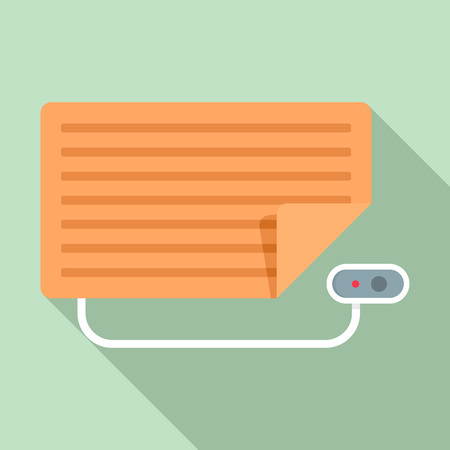 Home electric blanket icon. Flat illustration of home electric blanket vector icon for web design