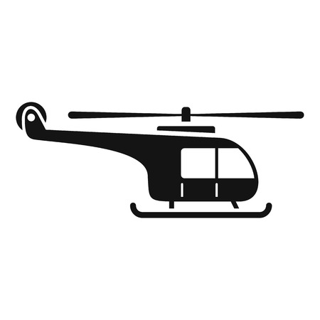 Mountain helicopter icon, simple style Illustration