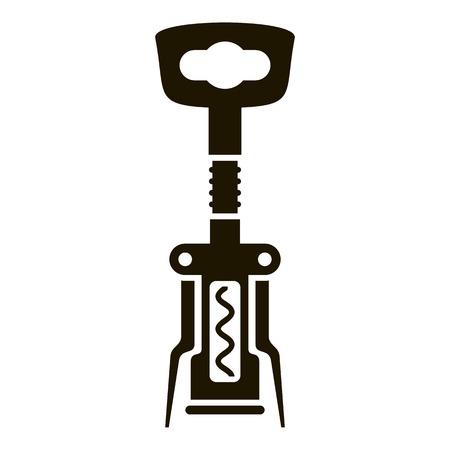 Corkscrew icon. Simple illustration of corkscrew vector icon for web design isolated on white background Archivio Fotografico - 127093135
