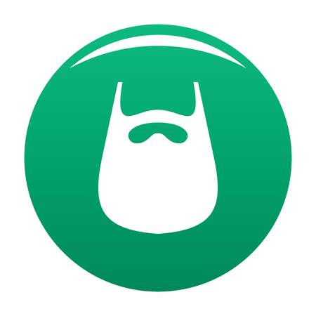 Smooth beard icon vector green