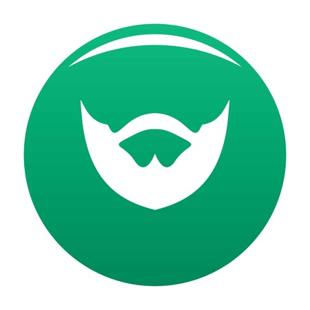 Clipped beard icon vector green