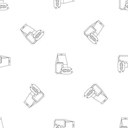 Lunch box sausage icon. Outline illustration of lunch box sausage vector icon for web design isolated on white background Illustration