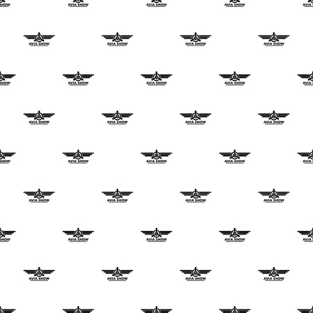 Avia show pattern seamless vector Illustration