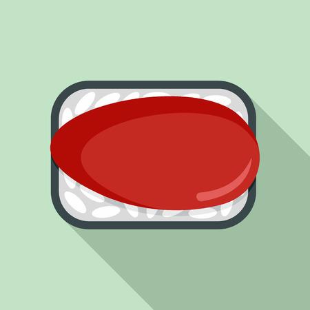 Japan sushi icon, flat style Stock Photo