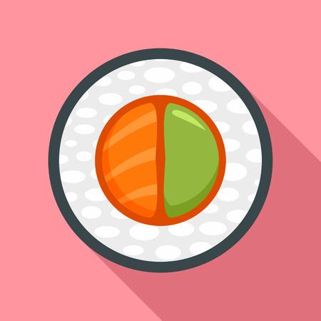 Sake wasabi sushi icon, flat style