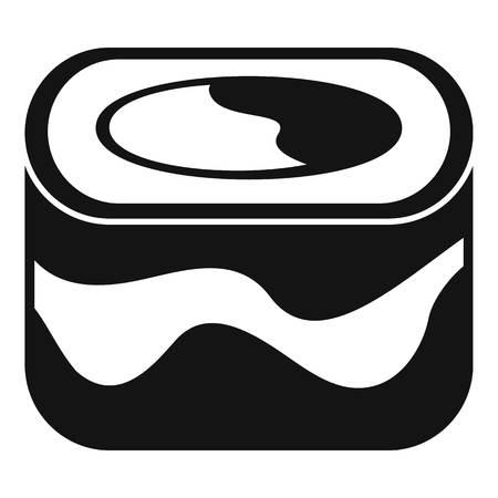 Ebi sushi icon, simple style
