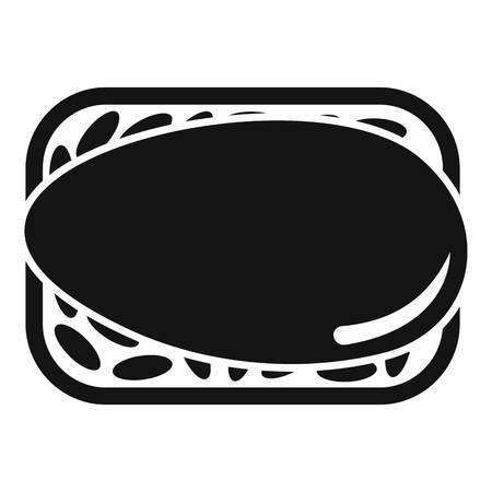 Japan sushi icon, simple style