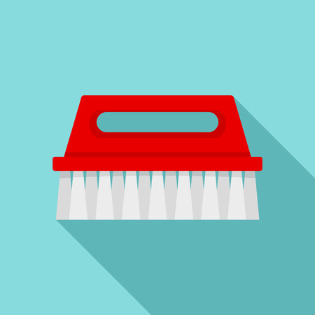 Wash brush icon, flat style