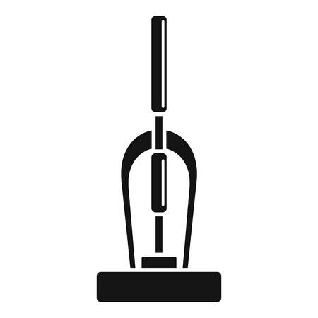 Old hand vacuum cleaner icon, simple style