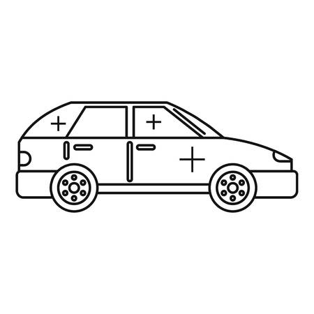 Clean car icon, outline style