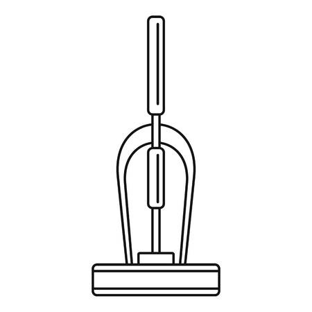 Old hand vacuum cleaner icon, outline style Banco de Imagens
