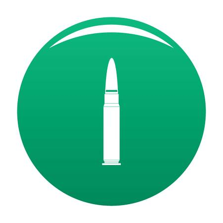 Cartridge for weapon icon green Stock fotó