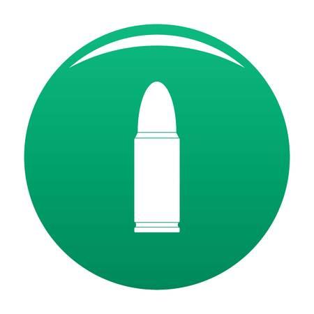 Metal cartridge icon green Stock Photo