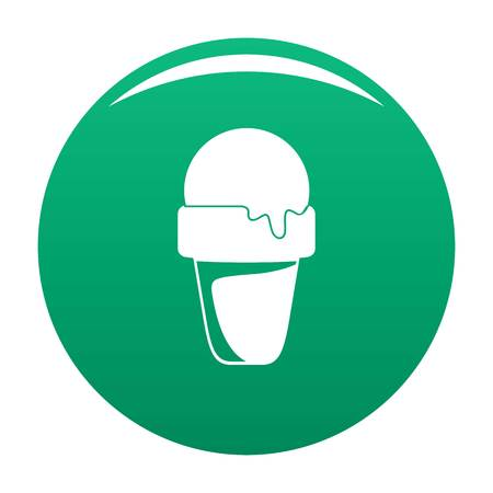 Ice cream summer icon green