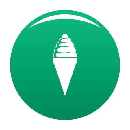 Ice cream icon green
