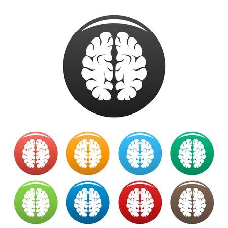 Artificial brain icon, simple style Banco de Imagens