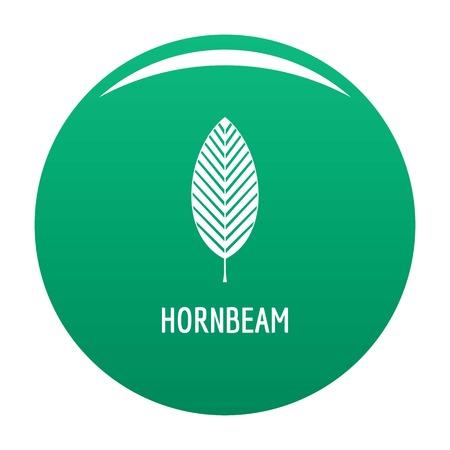 Hornbeam leaf icon green Reklamní fotografie
