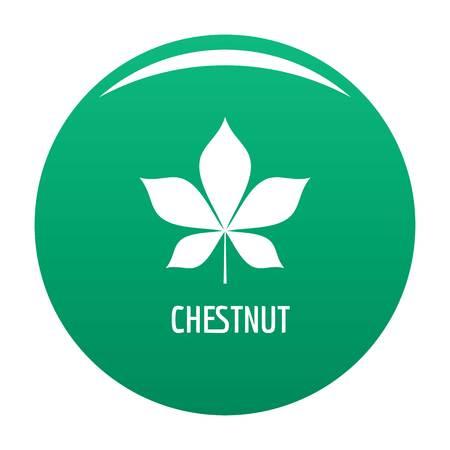 Chestnut leaf icon green