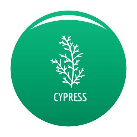 Cypress leaf icon green Stock Photo