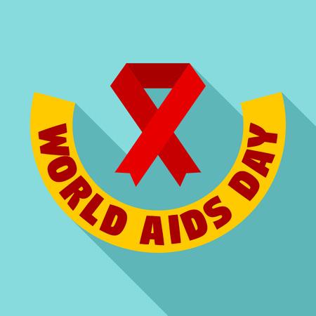 World aids day   set, flat style