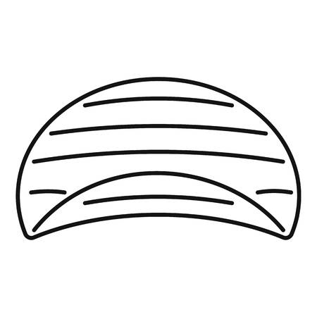 Potato rippled chips icon, outline style