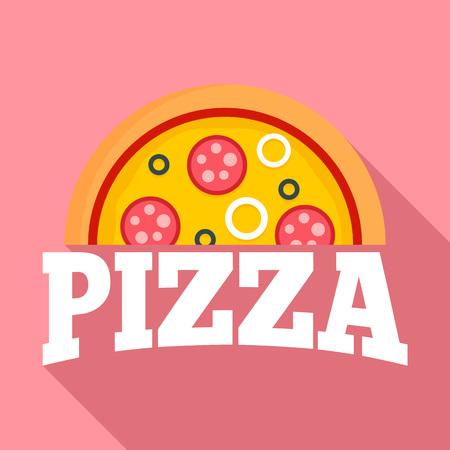Pizza margarita   flat style Stok Fotoğraf - 114163388