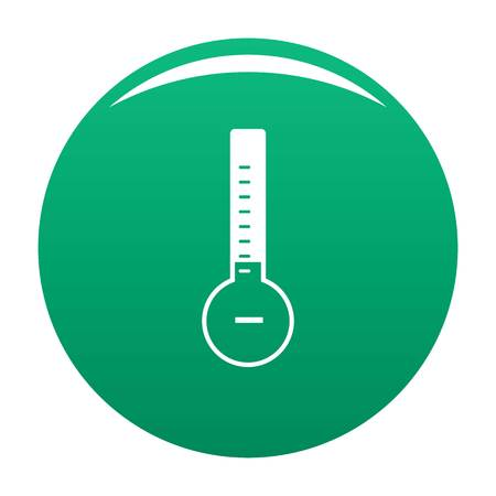 Thermometer cold icon green