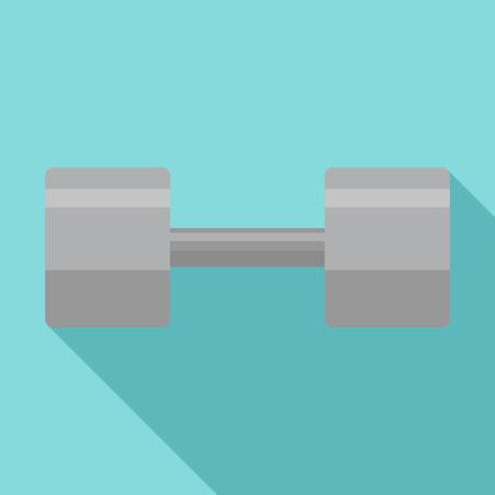 Gym dumbell icon. Flat illustration of gym dumbell vector icon for web design Illustration