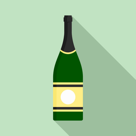 Elite champagne icon. Flat illustration of elite champagne vector icon for web design