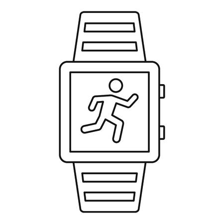 Sport smartwatch icon, outline style