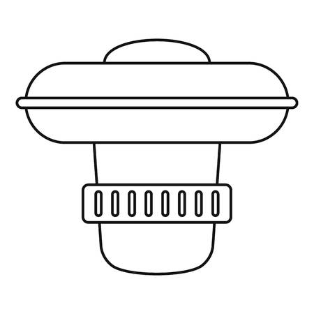 Dosing pool device icon, outline style