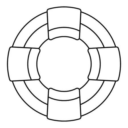 Lifebuoy icon, outline style Ilustração