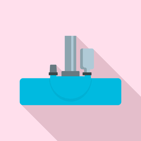 Vacuum cleanning head icon, flat style