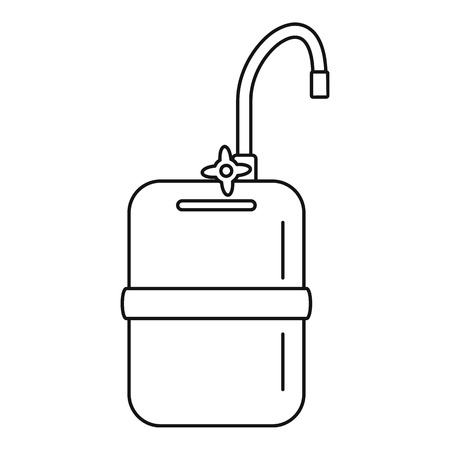 Mobile water tank tap icon. Outline mobile water tank tap vector icon for web design isolated on white background Illustration