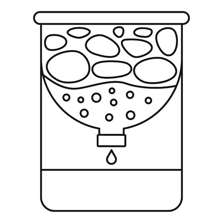 Water purification icon. Outline water purification vector icon for web design isolated on white background
