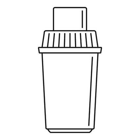 Water filter cartridge icon, outline style