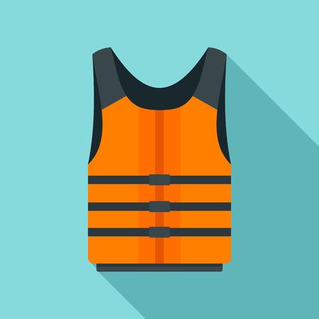 Life jacket icon. Flat illustration of life jacket vector icon for web design