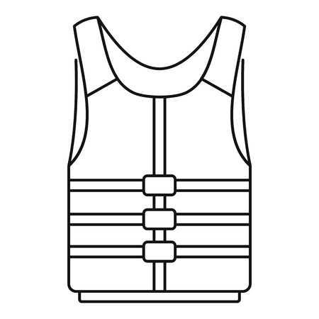 Life jacket icon. Outline life jacket vector icon for web design isolated on white background Illustration