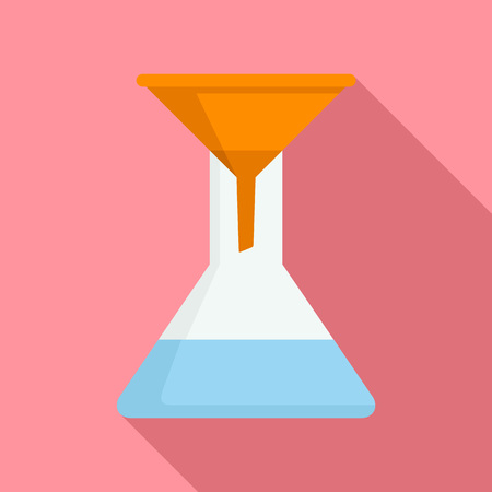 Water funnel icon. Flat illustration of water funnel vector icon for web design