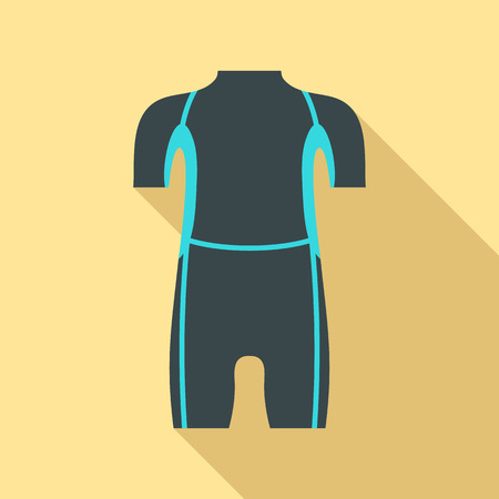 Diving wetsuit icon. Flat illustration of diving wetsuit vector icon for web design