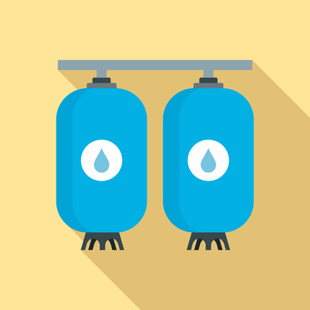 Reserve water bottle icon. Flat illustration of reserve water bottle vector icon for web design