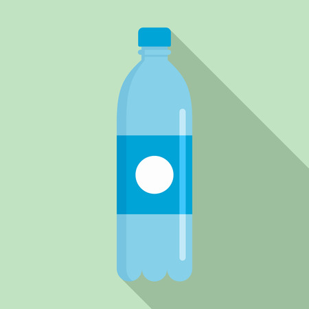 Pure water bottle icon. Flat illustration of pure water bottle vector icon for web design