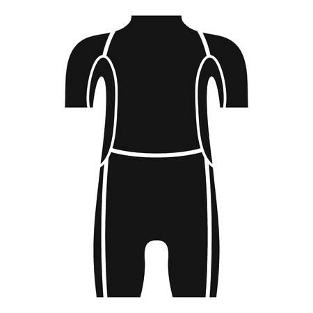 Diving wetsuit icon. Simple illustration of diving wetsuit vector icon for web design isolated on white background Illustration