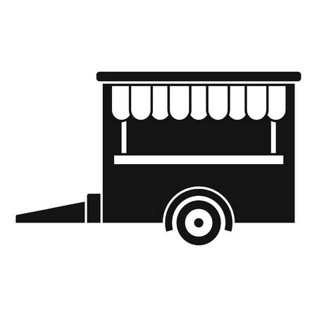 Food trailer icon. Simple illustration of food trailer vector icon for web design isolated on white background Stock Illustratie